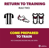 FQ Covid Rule - Come prepared to train